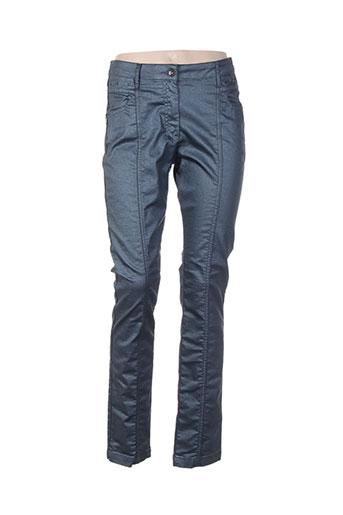rose electron pantalons femme de couleur bleu