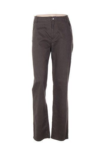impact pantalons femme de couleur marron