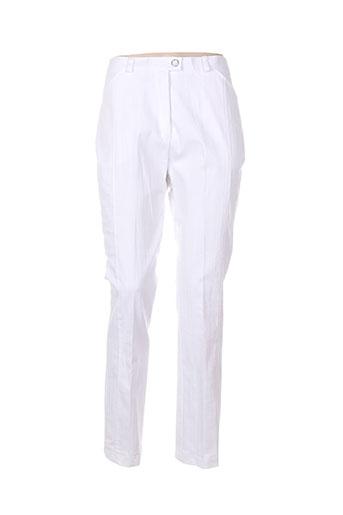 20/20 pantalons femme de couleur blanc