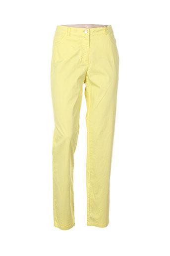 andamio pantalons femme de couleur jaune