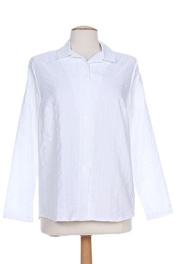 plurielles chemises femme de couleur blanc