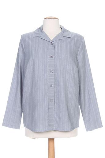 plurielles chemises femme de couleur gris