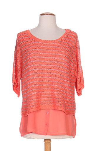 yest pulls femme de couleur orange