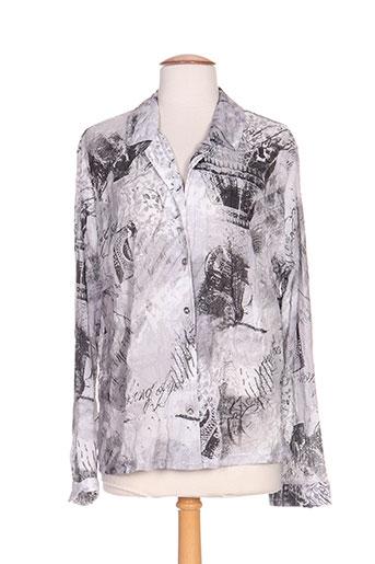 figure libre chemises femme de couleur gris