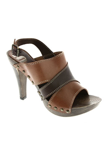 mms chaussures femme de couleur marron