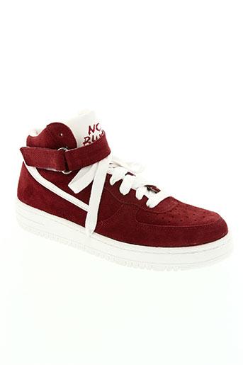 no blues chaussures femme de couleur rouge