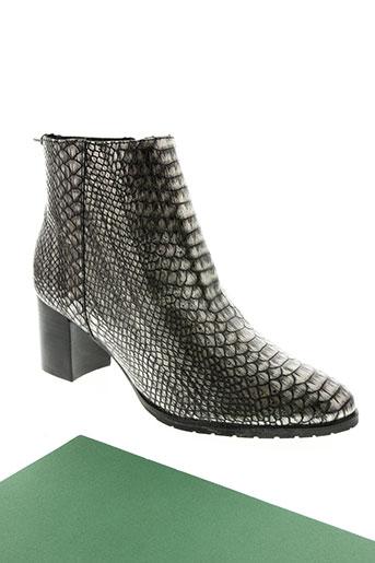 lundi bleu chaussures femme de couleur gris