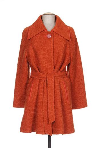 ella manteaux femme de couleur orange