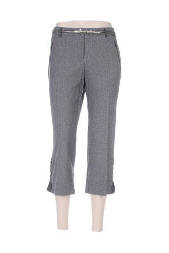 mariella rosati pantalons femme de couleur gris