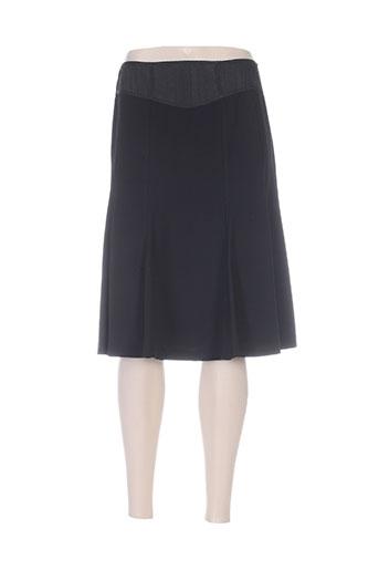 Jupe mi-longue noir INFINITIF pour femme