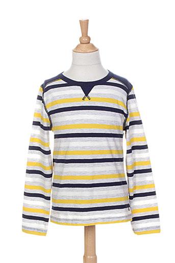 petit bateau t-shirts fille de couleur jaune