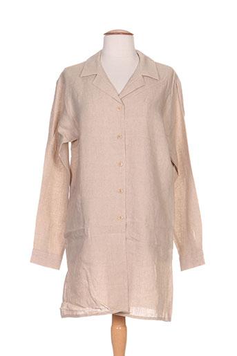 ernest tuniques femme de couleur beige