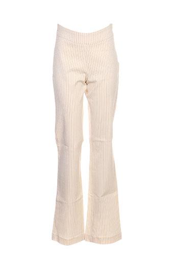 Pantalon casual beige BF & L pour femme