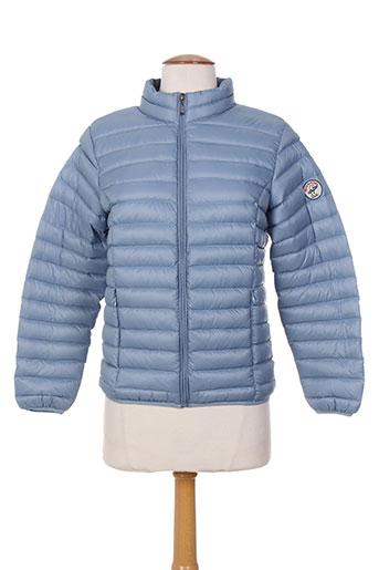 back to alaska manteaux fille de couleur bleu