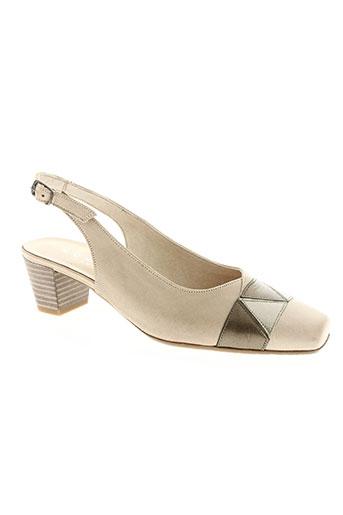 mondrie chaussures femme de couleur beige