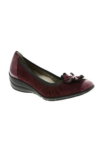 hasley chaussures femme de couleur rouge