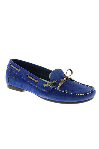 fluchos chaussures femme de couleur bleu