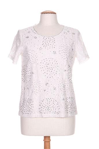 diane laury chemises femme de couleur blanc