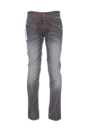salsa jeans homme de couleur marron