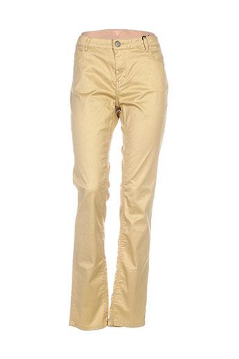 chipie pantalons femme de couleur jaune