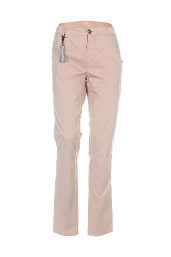 chipie pantalons femme de couleur marron