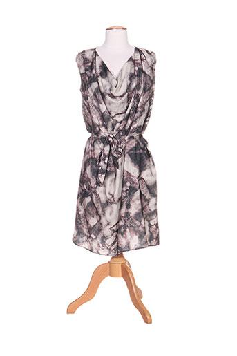 ichi robes femme de couleur gris