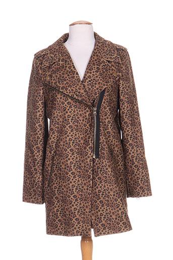 Manteau long marron BRIGITTE BARDOT pour femme