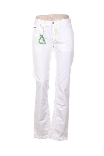 absolut joy pantalons femme de couleur blanc