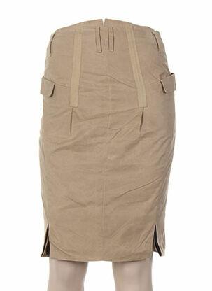Jupe mi-longue beige ANDREW MACKENZIE pour femme