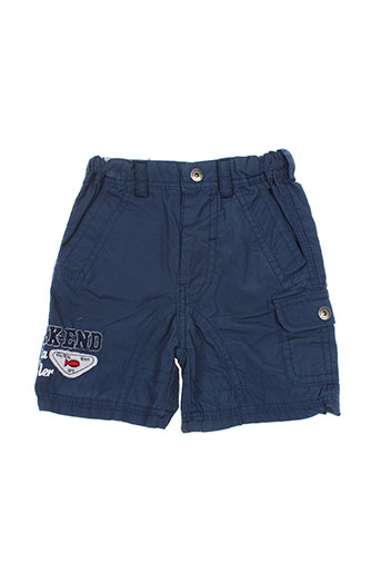week end a la mer shorts / bermudas garçon de couleur bleu