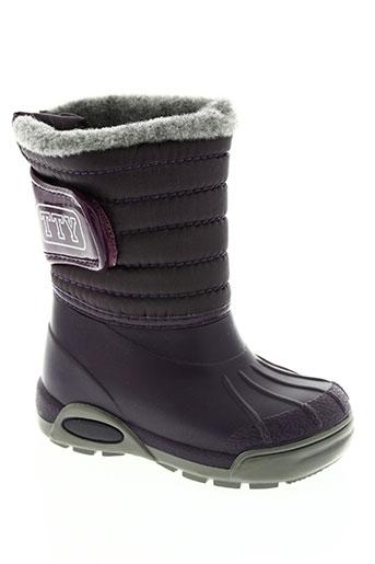 tty chaussures enfant de couleur violet