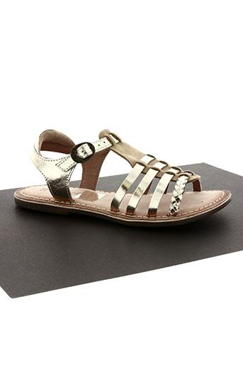kickers chaussures fille de couleur jaune
