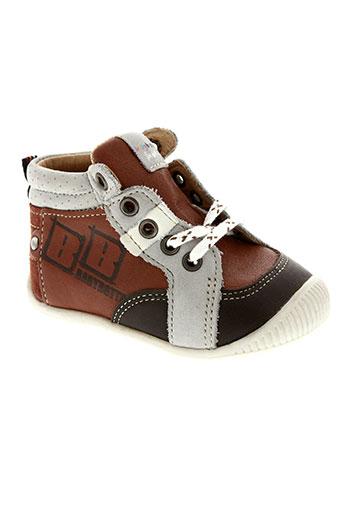 babybotte chaussures garçon de couleur marron