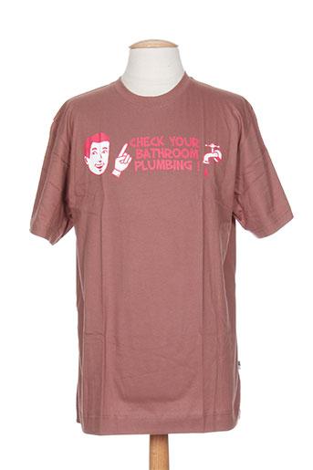 ideo t-shirts / tops homme de couleur marron