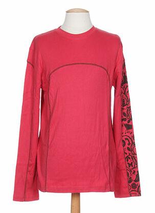 T-shirt manches longues rouge IDEO pour homme
