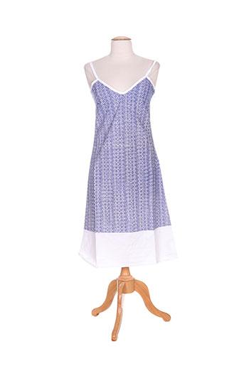 Robe mi-longue bleu IDEO pour femme