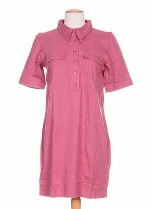 Robe mi-longue rose IDEO pour femme