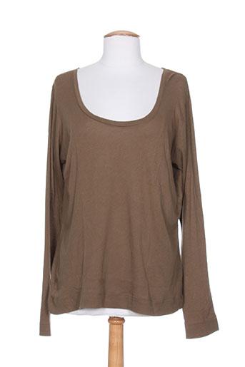 ethos t-shirts femme de couleur marron