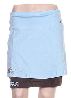 Jupe courte bleu ENVAO pour femme
