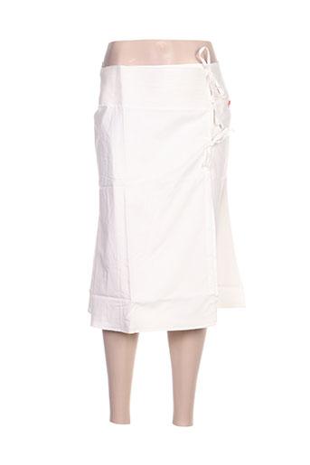 Jupe mi-longue blanc IDEO pour femme
