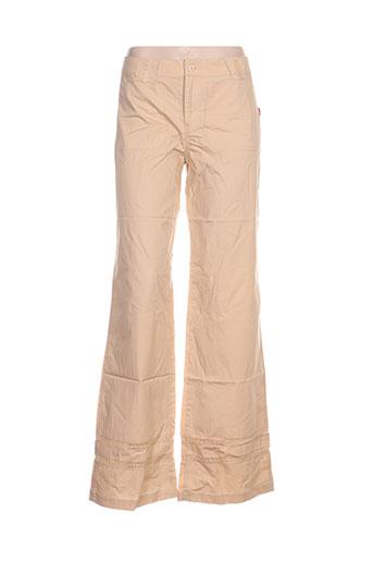 Pantalon casual beige IDEO pour femme