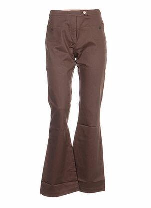 Pantalon casual vert IDEO pour femme