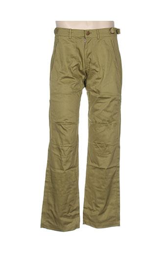 ideo pantalons homme de couleur vert