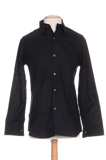 kolam chemises homme de couleur noir