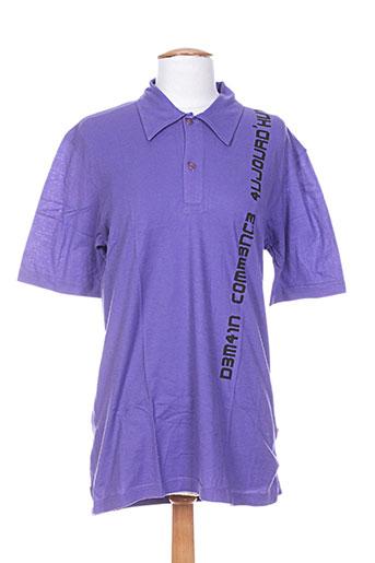 Polo manches courtes violet IDEO pour homme