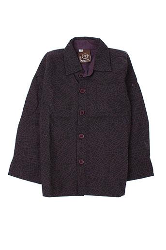 Chemise manches longues violet IDEO pour garçon