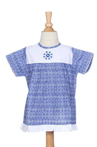 Top bleu IDEO pour fille