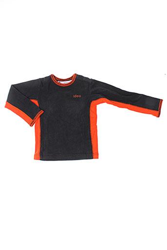 T-shirt manches longues orange IDEO pour enfant