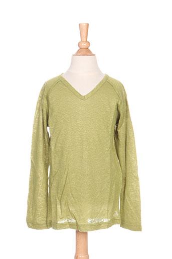 T-shirt manches longues vert IDEO pour fille