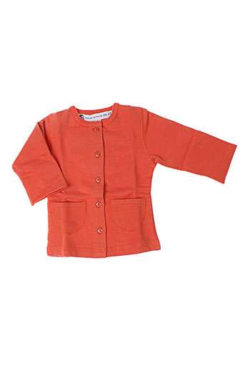 Gilet manches longues orange IDEO pour fille